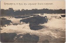 Foreign Postcard c1910 ARGENTINA COncordia E. Rios Uruguay Salto Grande RPPC