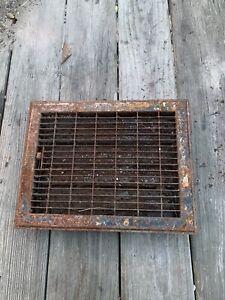 Antique Vintage metal Floor GRATE Heat Grille Furnace REGISTER +LOUVERS Lot 2