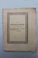 Diderot Denis, d'Alembert Jean-Baptiste - IV. Métallurgie - Metallverarbeitung
