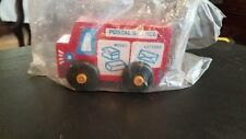 Vintage Montgomery Schoolhouse Toys of Vermont Wooden Postal Service Truck