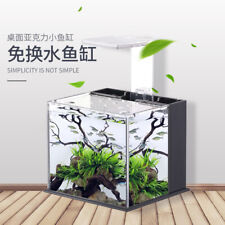 Nano Desktop Fish Tank Aquarium - All in One - LED and Filter - Shrimp Aquascape