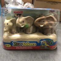 3 Fisher-Price Little People ZOO TALKERS Elephant Family Kids Preschool Toy Gift