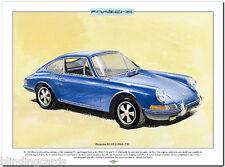 PORSCHE 911s (1966-73) Lámina Artística - A3 Tamaño Película Alemania