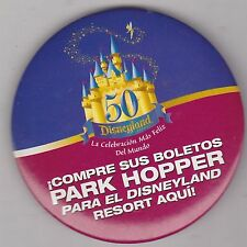 "VINTAGE 3"" PINBACK #36- 099 - DISNEY - DISNEYLAND - PARK HOPPER"