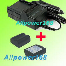 Battery + Charger For PANASONIC Lumix DMC-FZ28 DMC-FZ30 DMC-FZ28S DMC-FZ28K