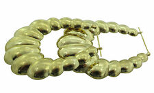 10KT Yellow Gold Hoop Earrings 12.00gms from BossManNYC