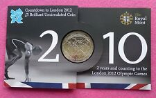 2010 ROYAL MINT OLYMPIC GAMES COUNTDOWN  FIVE POUND COIN  NEW AND SEALED