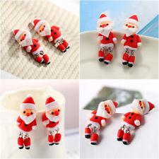 1 Paire Femme Boucle Oreille Poupée Père Noël Argile Molle Déco Noël Enfant Mode