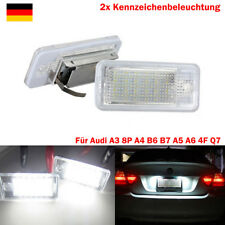Set Kennzeichenbeleuchtung LED SMD Für Audi A3 A4 A5 A6 4F Q7 8P B6 B7 TÜV FREI