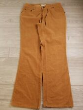 Cloudveil Corduroy Pants Women's size 12 tan brown boot cut outdoor hiking  D137