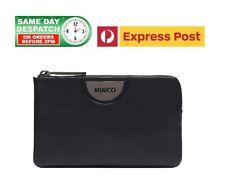 MIMCO ECHO Wide Small Pouch BLACK GUN METAL Logo Wallet BNWT + FREE EXPRESS POST