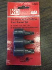 """KD 3406 3/8"""" Drive Brake Caliper Torx Socket Set  T40 T45 T50"""