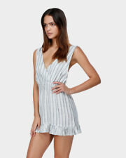BNWOT BILLABONG LADIES SANTIAGO STRIPE COVER UP / DRESS SIZE 10 RRP $70 FAULTY