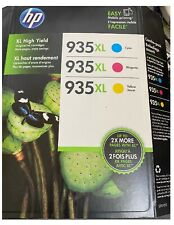 HP 935XL High Yield Ink Cartridges Color Combo Pack Sealed  8/2017