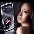 For Samsung Galaxy S4 S5 S6 Edge Note 3 4 Luxury Soft TPU Mirror Case Cover Skin