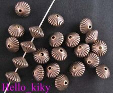 100Pcs Antiqued copper conrrugate bicone spacer bead A620