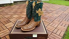 Lucchese Hornback Gator Caiman Jacare Tail and Goat SIZE 10 H2004 McKinney