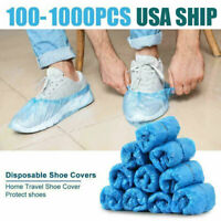 Waterproof Boot Shoe Covers Plastic Disposable Cleaning Overshoes Protector USA