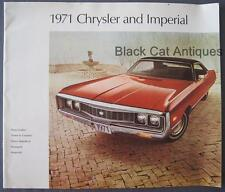 1971 Chrysler 300 Imperial New Yorker Newport Town & Country Large Car Brochure