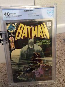 Batman #227 CBCS 4.0 Key Neal Adams classic cover 1970 DC Comics CGC