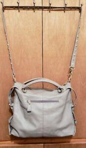 STEVE MADDEN Ladies Light Gray Hobo Handbag - Excellent Pre-Owned Condition