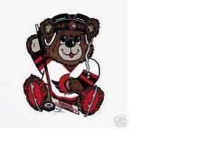 "NEVER HUNG UP MINT NOS 1996 OTTAWA SENATORS DIECUT ""NHL HOCKEY TEDDY BEAR SIGN"