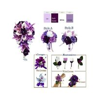 Purple, Lavender, and White Artificial Wedding Flowers *Build Your Package*