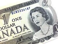1973 Canada One Dollar BCN Prefix Circulated Elizabeth Canadian Banknote L372