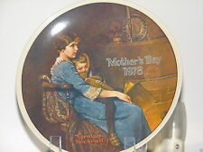 """Norman Rockwell Mother's Day Plate 1978 """"Bedtime"""" Annual Mother's Day Series"""