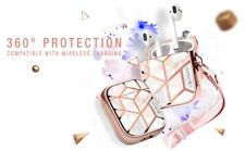 i-Blason Stylish Case for Apple AirPods 1st/2nd, 360° Full Body Cover with Strap