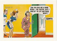 9x6 CAN YOU GIVE ME A HAND NURSE Arnold Taylor Postcard Ltd Print Bamforth Comic