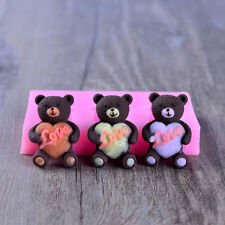 Teddy Bear Silicone Fondant Molds Chocolate Candy Mould DIY Resin,Clay Forms