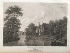 1814 Antique Print; Burton upon Trent, Manor House, (ex-Abbey) Staffs