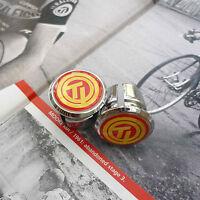 Vintage Style TI Raleigh Team Chrome Racing Bar Plugs, Caps, Repro