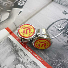 Vintage Style TI Raleigh Team Chrome Racing Bar Plugs, Caps, Repro