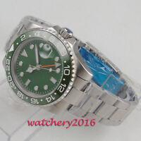 40mm Green Sterile dial Datum Saphirglas Glass GMT LUME Automatisch men's Watch