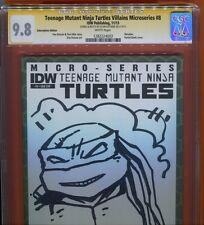 Teenage Mutant Ninja Turtles Villians #8 blank_CGC 9.8 SS_Sign/Sketch by Eastman