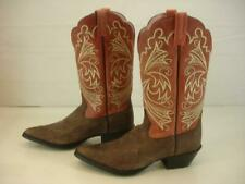 Womens 8.5 B M Ariat Cocoa Brown Rose Coral Heritage Western Boots Leather 15726