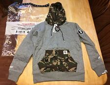 RARE NWT Mens AAPE by A Bathing Ape Baseball Camo Hoodie Jacket Medium