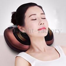 8 Drives Shiatsu Car Massage Pillow Massager Heating Cushion Neck Back Shoulder