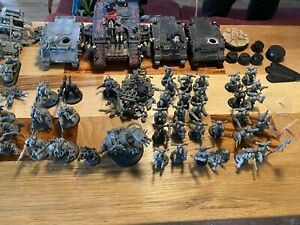 51 Figures + 5  Vehicles Warhammer 40k Chaos Space Marines and Ravewing lot