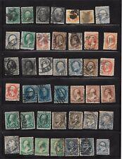 Estados Unidos. Conjunto de 42 sellos Clásicos usados