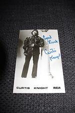 CURTIS KNIGHT (+) Jimmy Hendrix signed Autogramm auf 9x14 cm Autogrammkarte RAR
