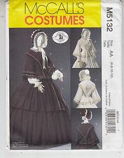 McCalls 5132 Costume Civil War Reenactment Historic Fashion Pattern Szs 6-12