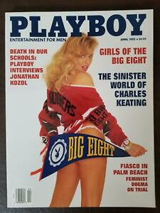 Playboy magazine April 1992 Cady Cantrell girls of the big 8 NEAR MINT