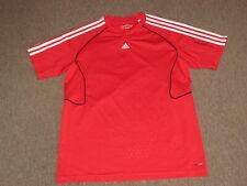 Adidas Mens Red & White ClimaLite Soccer Football Futbol Jersey Shirt M medium