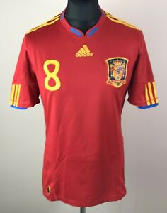 Xavi #8 Spain 2010/2011 ADIDAS Home Football Shirt Men's Size M Soccer Jersey