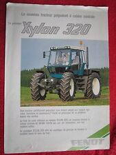 VINTAGE FENDT XYLON 320 PROTOTYPE TRACTOR BROCHURE (IN FRENCH)