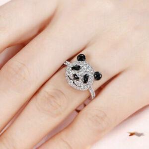 2Ct Round Cut Diamond Amazing Panda Shape Engagement Ring 14K White Gold Finish