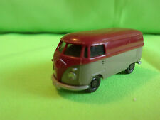OLD VINTAGE WIKING  VW VOLKSWAGEN T1 BUS - GREY + RED 1:87 - GOOD CONDITION